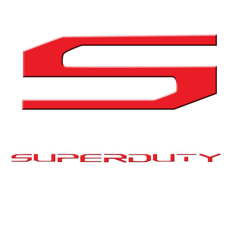 17-19 SUPERDUTY Raised Logo Acrylic Emblem Insert 3-Piece Kit for Hood, Tailgate, & Interior WHITE