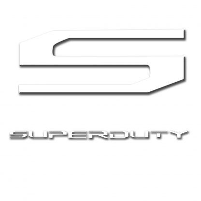 Ford Super Duty 17-19 Acrylic Emblem Inserts in White