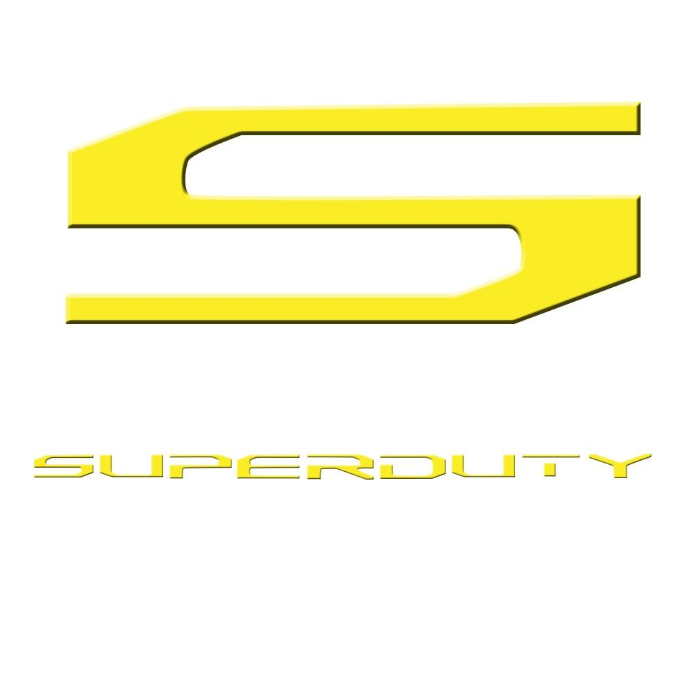 Ford Super Duty 17-19 Acrylic Emblem Inserts in Yellow