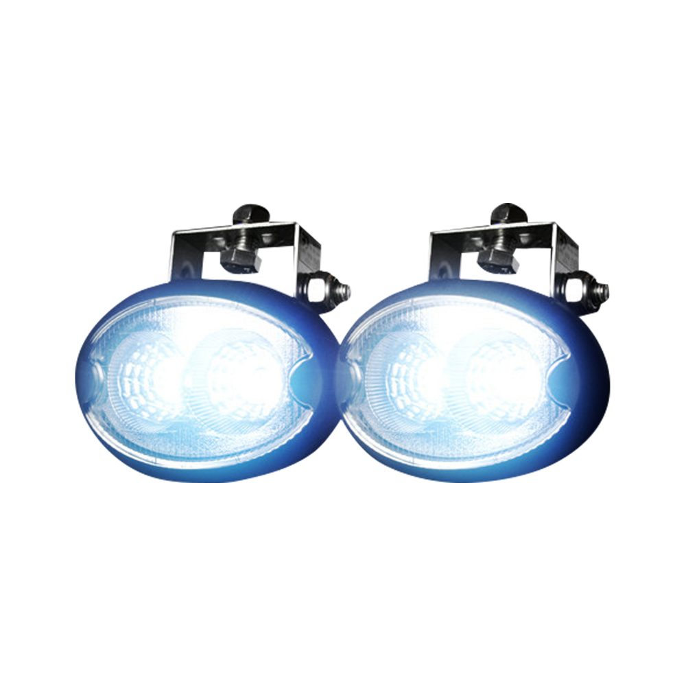 1100 Lumen LED Driving 12W 6500K LED Chrome Clear Lens Black Housing