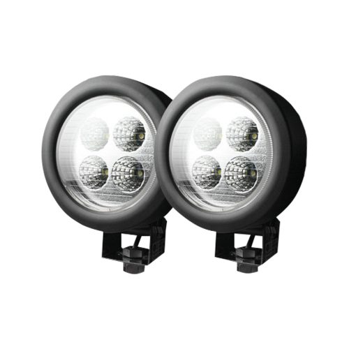 1800 Lumen LED Driving 12W 6500K LED Chrome Clear Lens Black Housing
