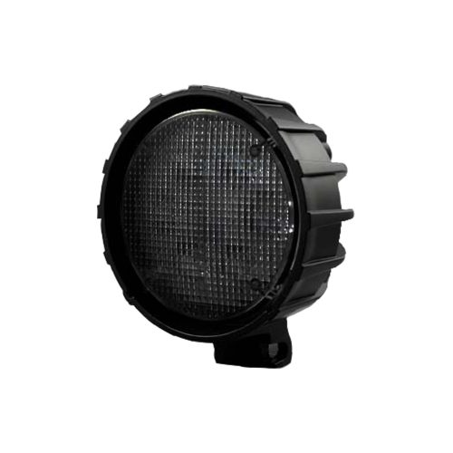 3500 Lumen LED Driving Light 6000K White LEDs Black Chrome Clear Lens w/ Black Reinforced Housing