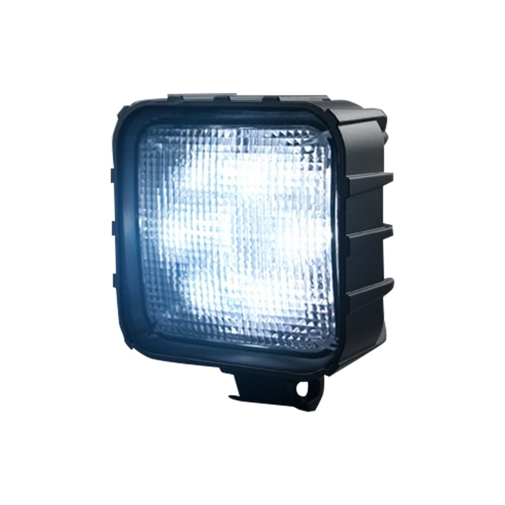 High-Power 3000 Lumen LED Driving Lights 3500k white leds chrome w/ Clear Lens & Black Housing
