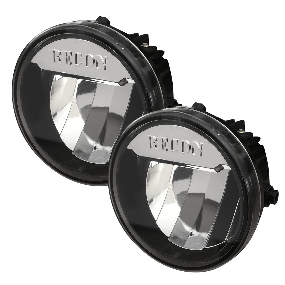 Ford 09-14 F-150 LED Fog Lights 2-Piece Set Clear / Chrome