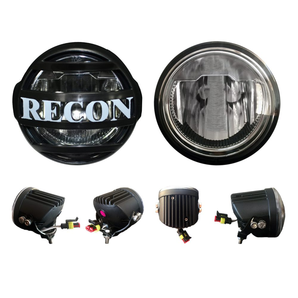 Driving Light Kit LED w/ Complete Wiring Hardware & RECON Rock Guard