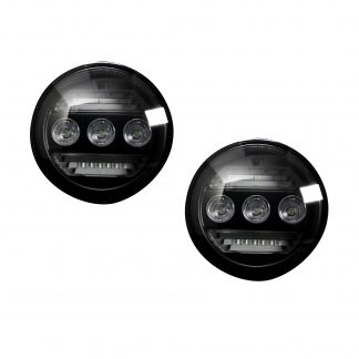 GMC Sierra & Chevy Silverado 15-19 White LED 2-Piece Fog Lights Smoked/Black