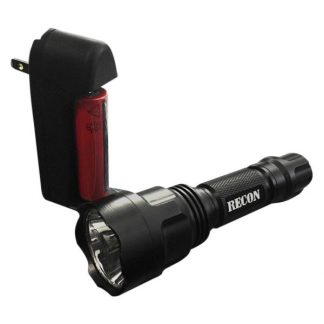900 Lumen Flashlight LED in Black