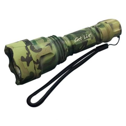 900 Lumen LED Handheld 10-Watt Flashlight - GREEN CAMO