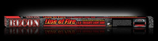 "Box shot of 60"" Hyperlite LED Tailgate Light Bar in Red"