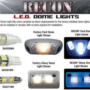 RECON 264165 Ford Dome Light Set LED Replacement U2013 Fits Ford F 150 04 14 U0026  SVT RAPTOR 09 15