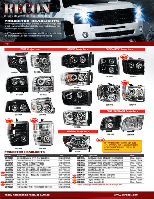 Recon 264198cl Ford F150