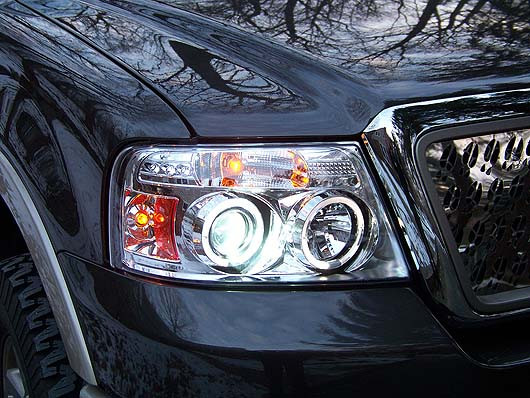 Clear Chrome Led Halo Truck Headlights 04 08 Ford F 150