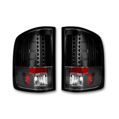 DARK RED SMOKED LED Tail Lights 07-13 GMC SIERRA 1500/2500/3500 Single Wheel ONLY