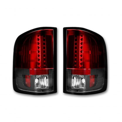 GMC Sierra 07-13 Tail Lights LED in Red