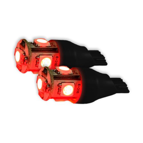 921 912 906 T15 5Q (6 L.E.D.'s) 360 Degree Red LED Bulbs