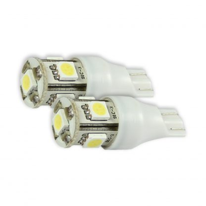 921 912 906 T15 5Q (6 L.E.D.'s) 360 Degree White LED Bulbs