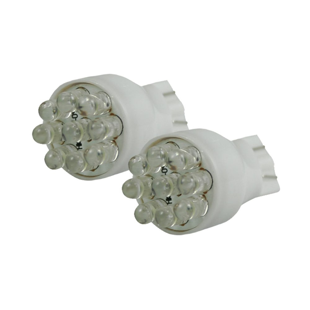 921 912 906 T-15 (9 LEDs) Amber L.E.D. Bulbs Wedge Style