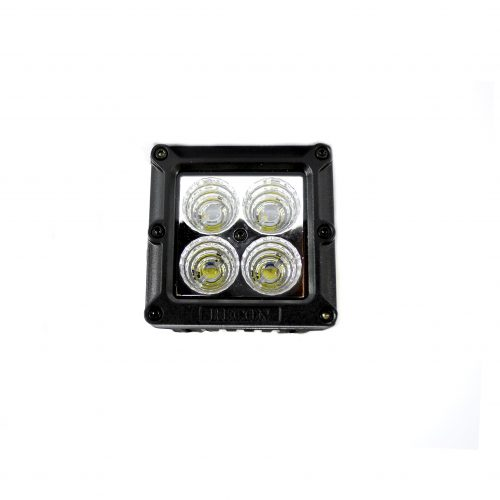 "Square 3"" LED Light w/ Four 5-Watt Spot Pattern CREE XTE LEDs - CLEAR/CHROME"