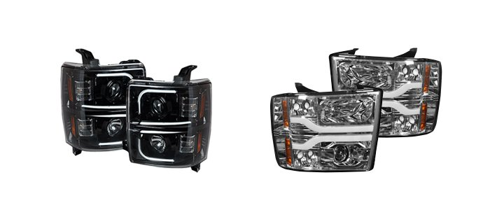 Chevy truck projector headlights