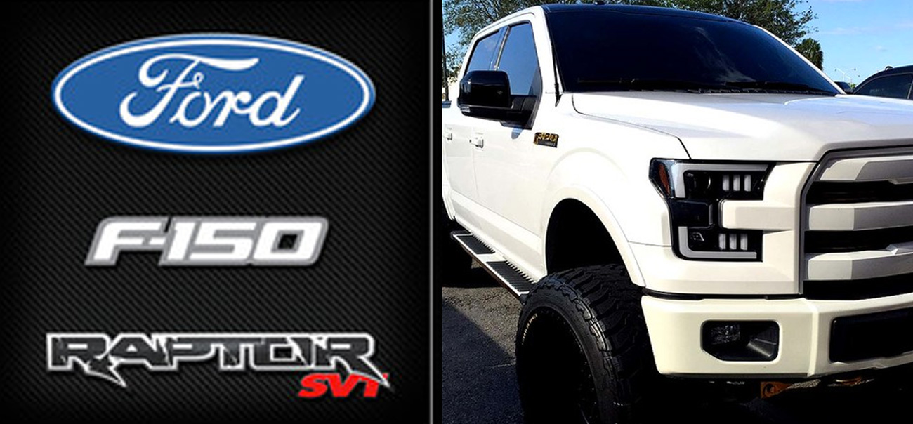 ford f150 and raptor projector headlights