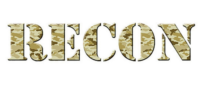 RECON truck decal in camouflage