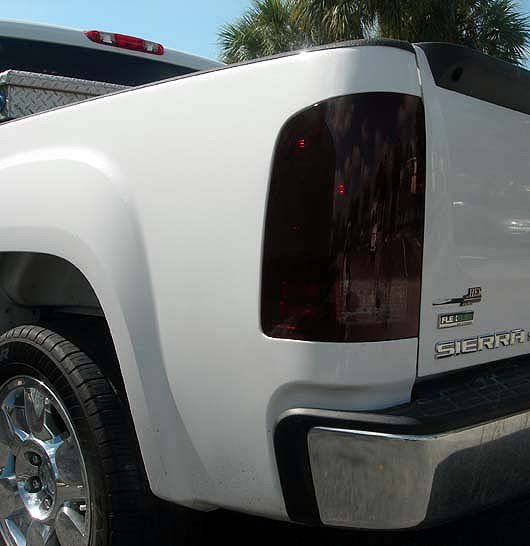 SMOKED LED Tail Lights 07-13 GMC SIERRA 1500/2500/3500 Single Wheel ONLY