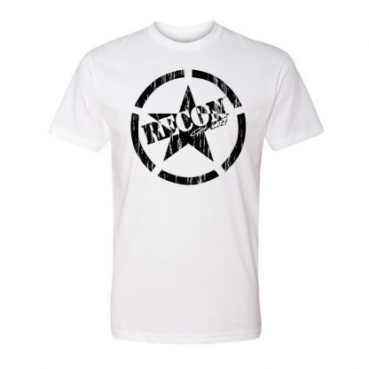 Short Sleeve Army Star - black & white