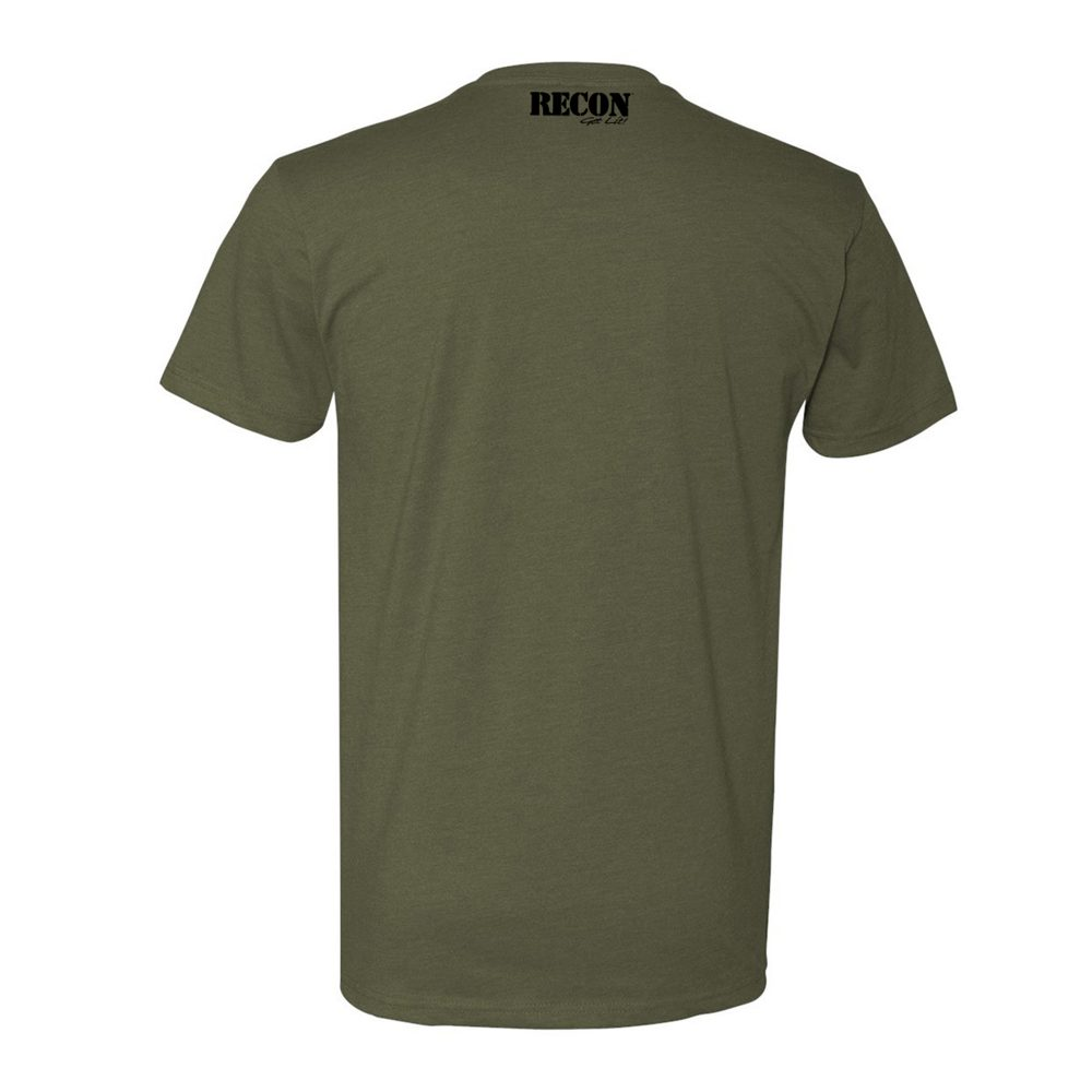 Short Sleeve Army Star - Military Green