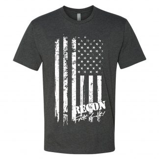 Short Sleeve RECON American Flag Logo T-Shirt