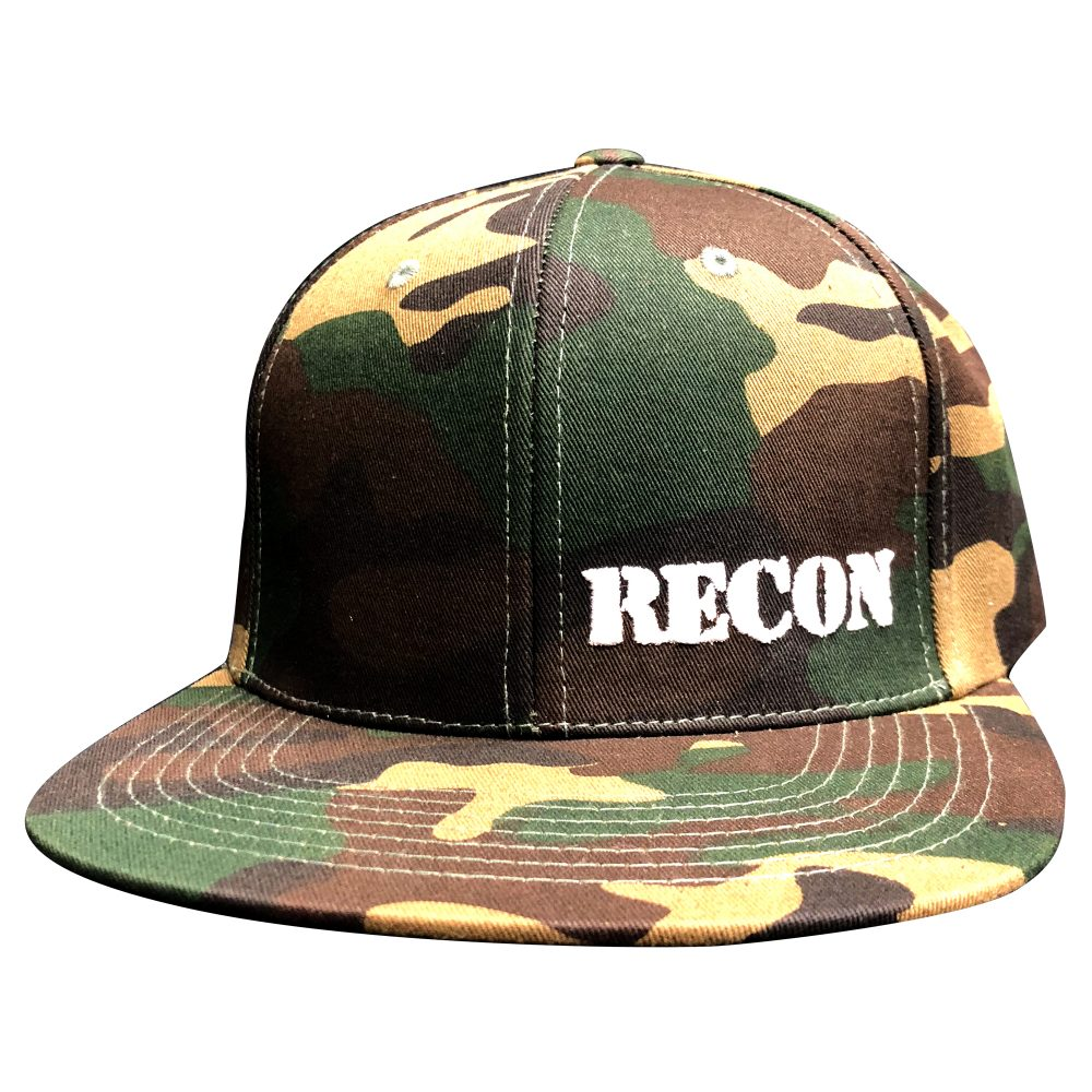 Uploaded ToRed Patch w/ White RECON Logo on Black Trucker Hat
