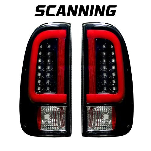 Ford Super Duty F250HD/350/450/550 99-07 & F150 97-03 Tail Lights OLED Scanning OLED Smoked