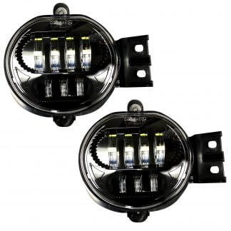 Dodge Ram 1500 02-08 & 2500/3500 03-09 2-Piece LED Fog Lights Set in Smoked & Black