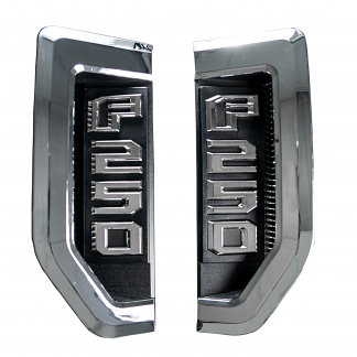 Ford F250 17-19 Illuminated Emblems Chrome in White 2
