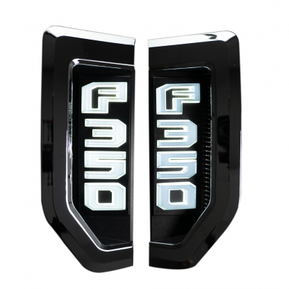 Ford F350 17-19 Illuminated Emblems Chrome in White