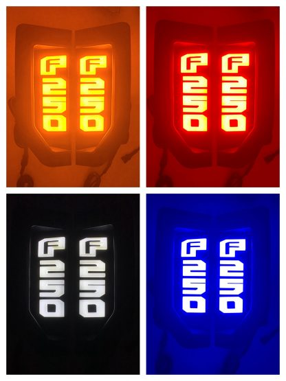 17-19 Superduty F450 Illuminated Emblems in Chrome