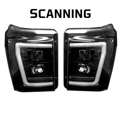 Superduty 11-16 F250 F350 F450 F550 PROJECTOR HEADLIGHTS Smoked Black