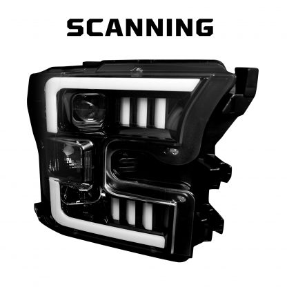 Ford F150 15-17 Projector Headlights OLED DRL LED Turn Signs in Smoked/Black