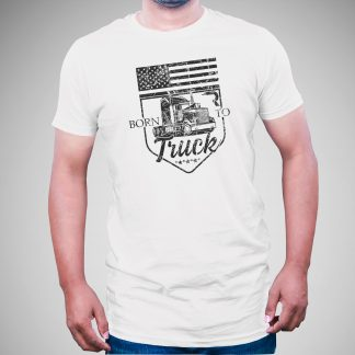 RECON Born to Truck white shirt