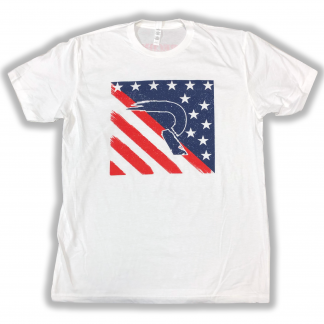 RECON red white and blue flag shirt