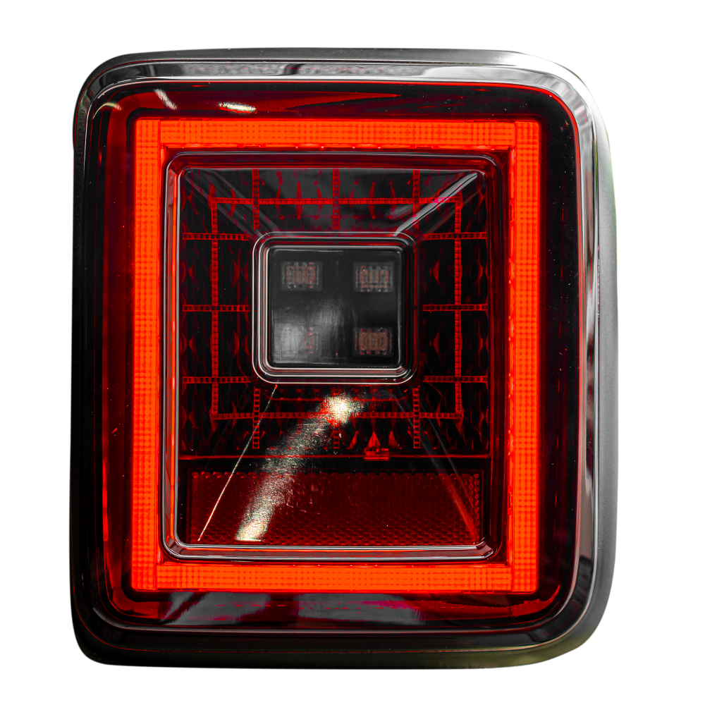 Image of Jeep JL Wrangler 18-19 for Factory OEM Halogen Tail Lights OLED Red Smoked