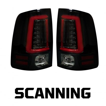 Dodge RAM 1500/2500/3500 13-18 OLED Tail Lights Scanning OLED Turn Signals in Smoked