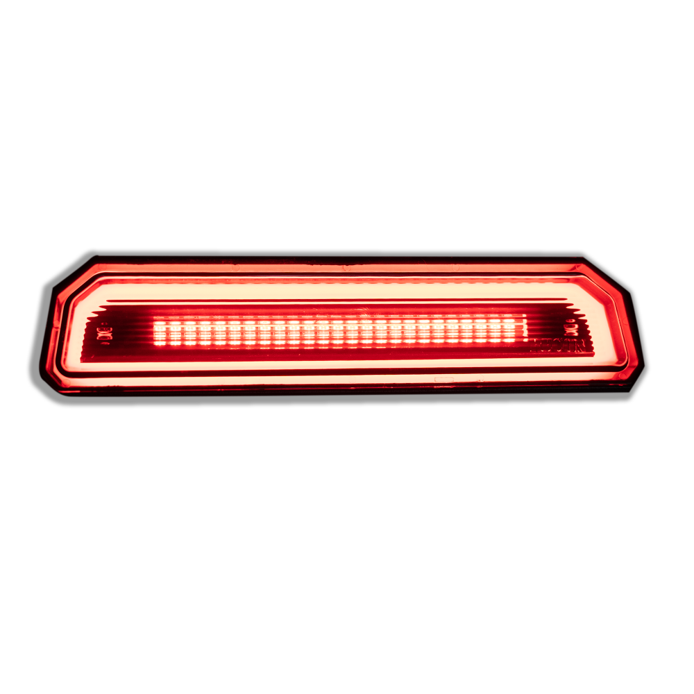 Lit Jeep JL Wrangler 18-20 3rd Brake Light Kit Ultra High Power Red OLED Smoked