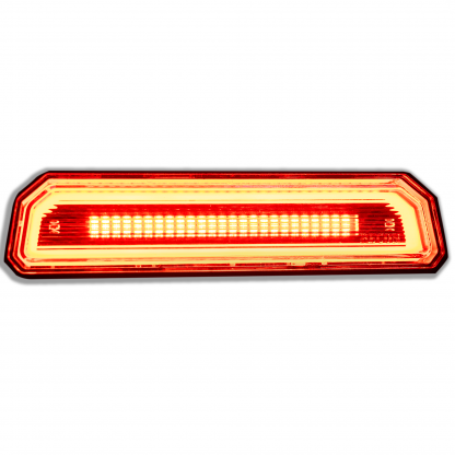 Lit 264327CL - Jeep JL Wrangler 18-20 RED Ultra High Power OLED 3rd Brake Light - Clear Lens