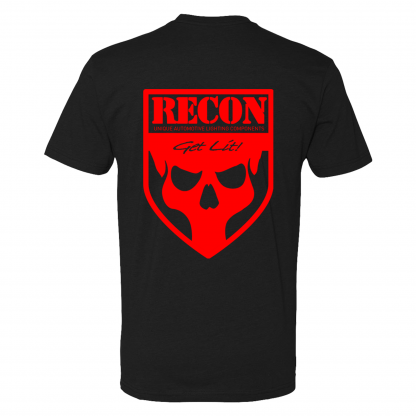 RECON black t-shirt with red skull (back)