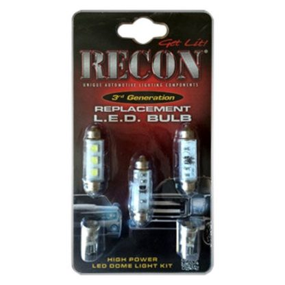 RECON 264161HP GM High Power Dome Light Set LED Replacement - Fits GMC & Chevy 00-07 Sierra & Silverado (CLASSIC BODY STYLE) 1 Set Required for Both 2-Door & 4-Door Trucks