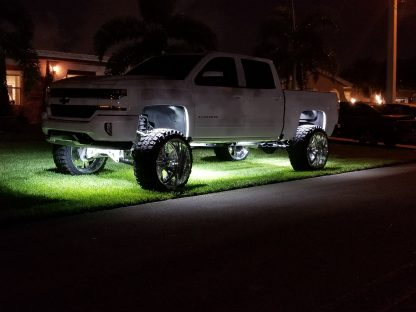 264515BL Under Body Rock LIghts / Wheel Well Mounted Rectangular Ultra High Power 15-Watt 1600-Lumen CREE LEDs IP67 Waterproof - BLUE