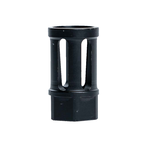 264CBBK102 - Interchangeable Bird Cage Design Rifle Barrel Antenna Tip Flash Hider - This interchangeable flash hider barrel tip fits RECON Combat Antennas - BLACK