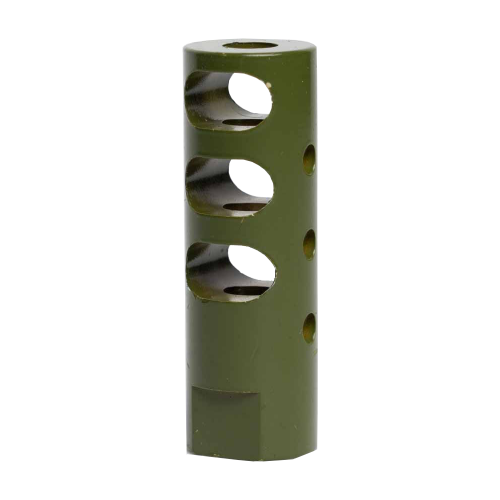 264CBGR104 - Interchangeable Suppressed Design Rifle Barrel Antenna Tip Flash Hider - This interchangeable flash hider barrel tip fits RECON Combat Antennas - OLIVE DRAB / ARMY GREEN