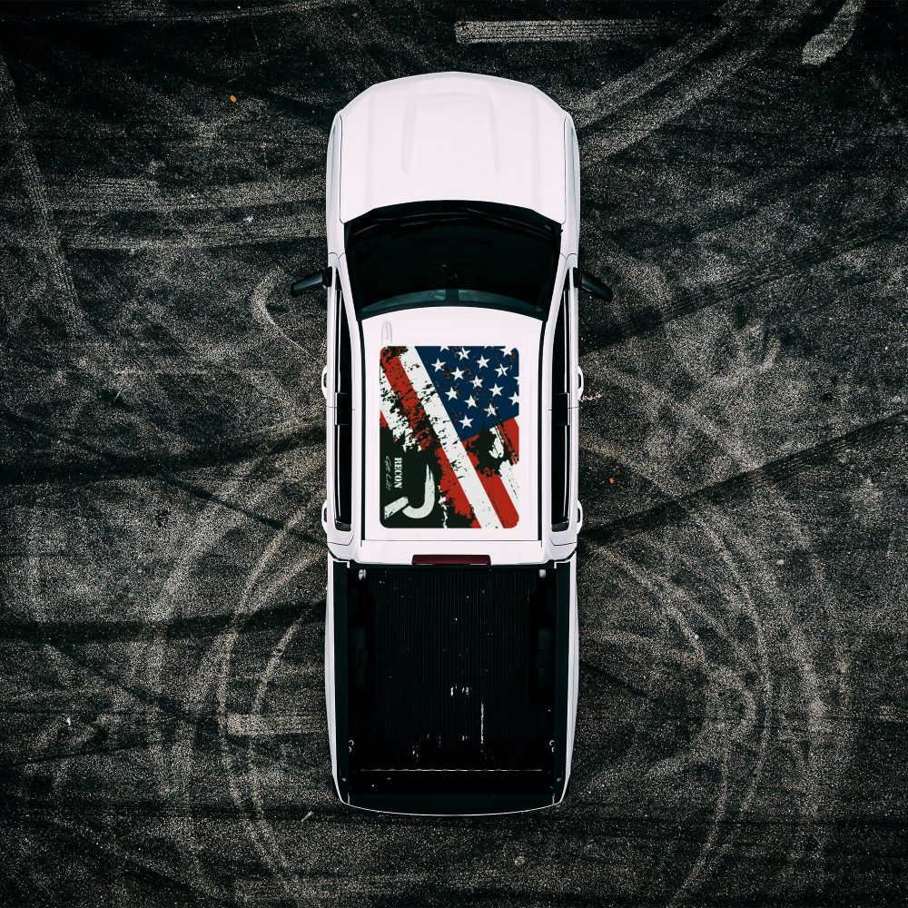 Roof Vinyl Wrap - RECON USA Flag