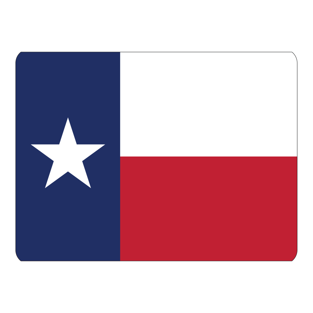 Roof Vinyl Wrap - Texas Flag